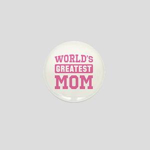 [Pink] World's Greatest Mom Mini Button